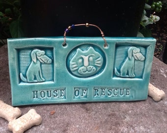 House of Rescue Puppy and Cat Tile