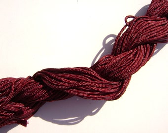 22# Cord BURGUNDY Macrame Knotting Braided Beading Cord 1.5mm, 54 feet
