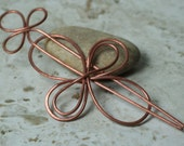 Handmade solid copper hair pin, shawl pin, scarf pin, one piece (item ID HS08C)