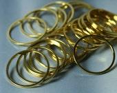 Gold plated circular link ring 19mm outer diameter, 28 pcs (item ID YWFA00010GP)
