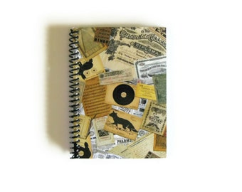 Old Paper Spiral Notebook, Blank Sketchbook, Pocket Diary Writing Journal, A6, Cute, Gift Under 20, Paper, 4x6 Inches, Back to School Ciaffi