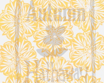 Digital paper INSTANT DOWNLOAD Yellow Starburst Designed From a Hand Carved Stamp / All artwork is Copyright © Autumn Hathaway 8.5x11
