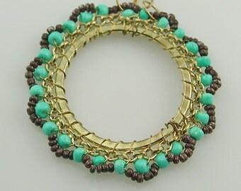 Large Beaded Hoops Jewelry Findings Destash