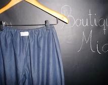READY to MAIL - Ladies Samurai PANTS / Capris - Light Denim - Will fit size M / L - by Boutique Mia
