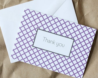 SALE - 50% OFF - Thank You Grid Print (set of 12)