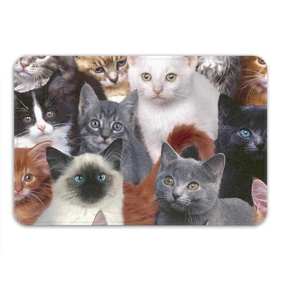 Cats For Days Memory Foam Bath Mat Funny Cat Bathroom Rug
