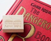 Personalized Library Book Rubber Stamp