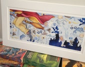 """HARRY POTTER """"harry-- yer a wizard.""""  limited edition signed print based on j.k.rowling's texts"""