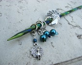 Peacock Non-Snag Stitch Markers