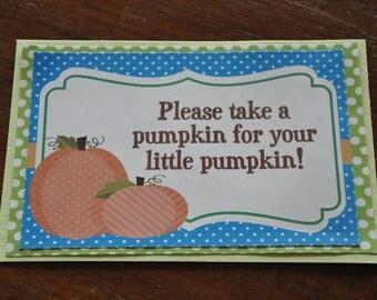 Pumpkin Sign. Pick a pumpkin. 5x7. Fall Party. Harvest Party. Pumpkin Patch. Blue. Green. Orange