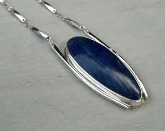 Abyss, a Lapis and Silver statement necklace