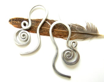 10 Gauge Thread Through Spiral Earrings