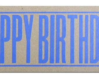 HAPPY BIRTHDAY Hand Printed Letterpress Cards