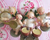 Vintage Erzgebirge Wooden Angel Musicians...VERY RARE!!