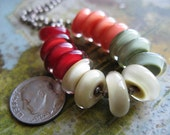 autumn  spice //   handmade glass lampwork bead discs  // Ellen Dooley SRA