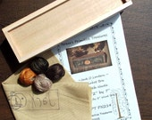 Punch Needle Kit Jack O Lantern Valdani Threads Pattern Wood Box