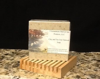 Clay and Tea Tree Oatmeal Soap