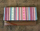 Ethnic Tribal Style Foldover Clutch / Aztec Navajo Clutch