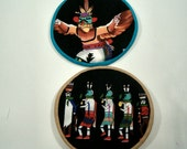 Kokopelii Cloth Coaster Set of 2   Set #36