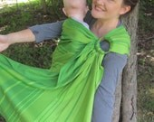 Little Frog Beryl - Wrap Conversion Ring Sling Baby Carrier - WCRS - Twill Weave Pleated Shoulder - DVD/ baby shower gift, toddler carrier