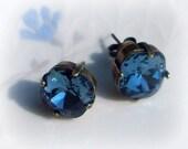Blue Jean Baby Swarovski Earrings