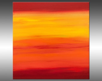 Sunset 26 - Abstract Landscape Painting, Original Modern Art Painting, Abstract Canvas Wall Art, Sunrise, Sunset, Skyscape