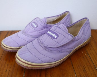 80s Velcro Shoes Quilted Lavender Fabric 9