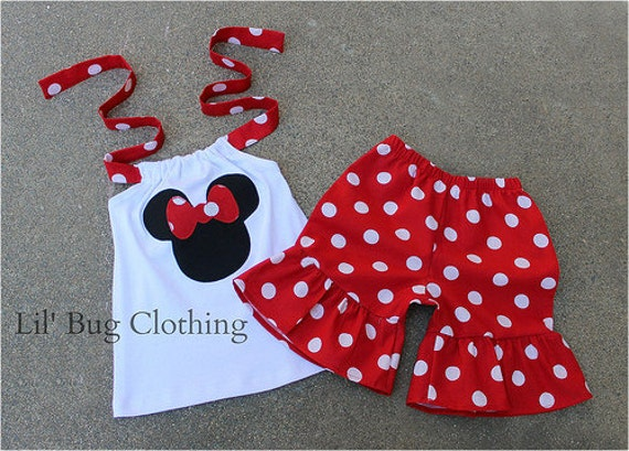 Minnie Mouse Red White Polka Dot Outfit, Minnie Mouse Summer Short & Top, Minnie Mouse Birthday Girl Outfit, Minnie Mouse Girl Clothes