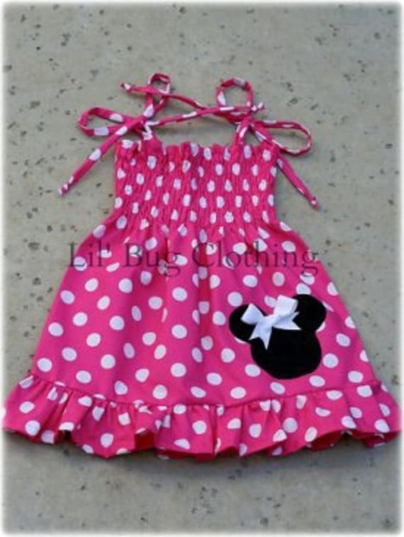 Minnie Mouse Dress, Hot Pink Minnie Mouse Dress, Toddler Girl Dress, Minnie Mouse Girl Clothes, Minnie Mouse Girl Party, Minnie Mouse Outfit