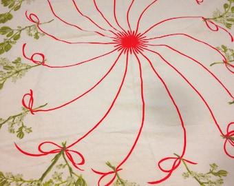 Vera Neumann Tablecloth Ladybug Vintage 60s Linen
