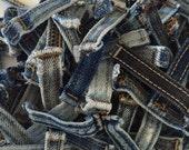 Reclaimed Blue Jean Belt Loops to Repurpose