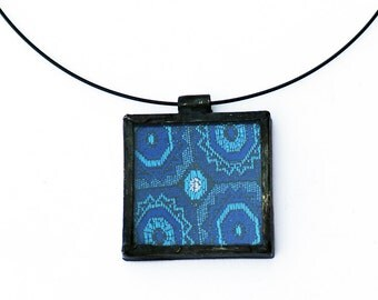 FABRIC PENDANT - Stained Glass Pendant