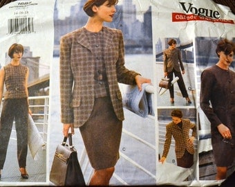 Sewing Pattern Vogue 1685 Dress, Top, Pants, and Skirt Size 14-18 Bust 36 -40 inches