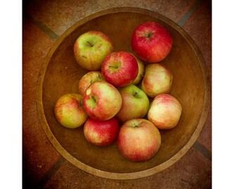 Apple Print,  Food Photography, Food Print, Kitchen Decor, Fall Harvest, Rustic Decor,  Fruit Still Life Photography