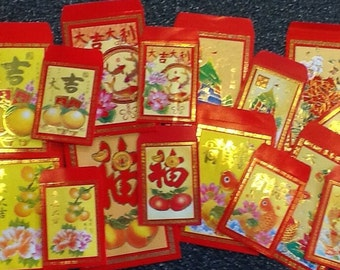 Chinese Lucky Red Envelope Art ACEO Card Making Embellishment - I - Me and My Mini