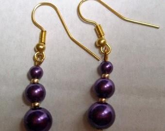 Purple Stack Earrings