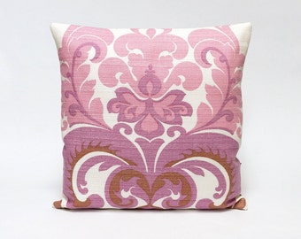 """Vintage fabric cushion cover, 70's, retro, throw pillow, 16"""" x 16 - Handmade with Love from Vintage Fabrics by EllaOsix"""