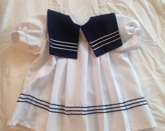 Vintage Sailor Dress //navy// white// sailor baby
