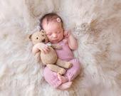 Newborn overalls with tieback newborn photography prop