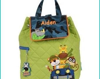 Personalized Zoo Backpack, School Bookbag, Toddler Backpack, Diaper Bag, Childrens Monogramed Backpack, Cute Girl Boy Backpack,School Bag