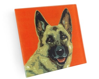 Set of 4 German Shepherd Coasters