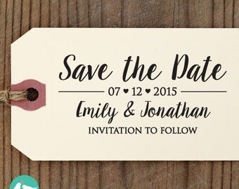 SAVE the DATE Stamp, Custom Save The Date Stamp, Self Inking Stamp, Custom Rubber Stamp, diy wedding, RSVP Stamp - Save The Date Stamp 11