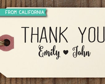 Thank You Wedding Favor Tag CUSTOM STAMP with proof from usa, Self-Inking Stamp for Wedding Favor Tag, Wedding Gift Tag, Party Gift Tag 232