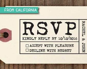 RSVP Stamp, Custom RSVP Stamp, Self Inking Stamp, Custom Rubber Stamp, diy wedding, Personalized Stamp, Custom Address Stamp, RSVP stamp 3