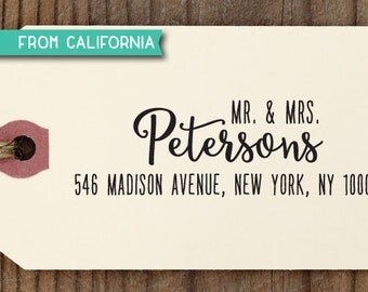 Mr & Mrs ADDRESS STAMP with proof from USA, Eco Friendly Self-Inking stamp, return address stamp, custom stamp, custom address stamp 269