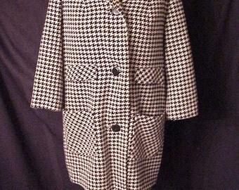 Herring Bone Mod Era That Girl Marlo coat jacket  Green Lea