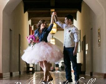 Adult Tutu Blush Pink Tutu Rustic Cowgirl Wedding Tutu Perfect for Weddings and Portraits