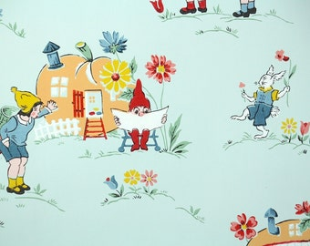 1930's Vintage Wallpaper - Enchanting Nursery Wallpaper