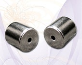2 (4 pcs) Magnetic Jewelry Clasps, Extra Strong Magnetic Clasp, 6mm x 6mm, Single Strand, Gunmetal Gray, DIY Jewelry