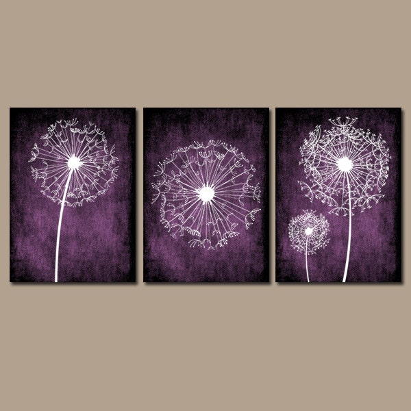 zoom. DANDELION WALL ART Purple Bedroom Wall Art Dandelion